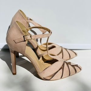 Madison By Shoedazzle Women's Nude Suede Heels